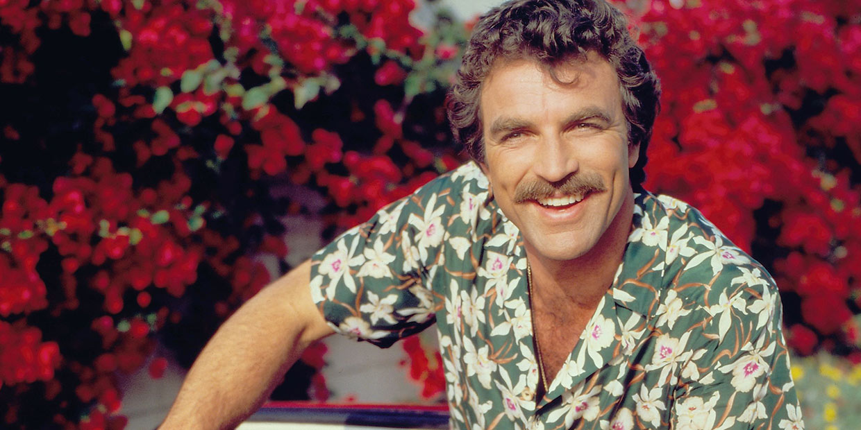 Tom Selleck as Magnum P.I.